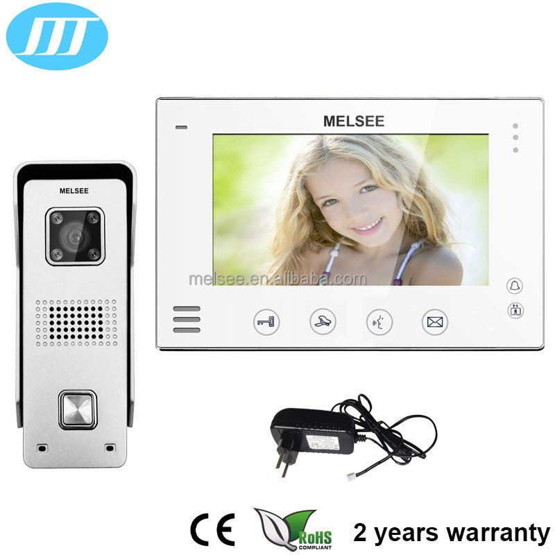 7 inch touch button screen 4 wire villa video intercom video door phone system