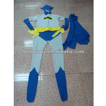 man catsuit costumes for party ornament super man theme party