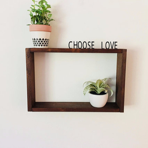 Customized Size Solid Wood + Changeable Acrylic Floating Letter Board