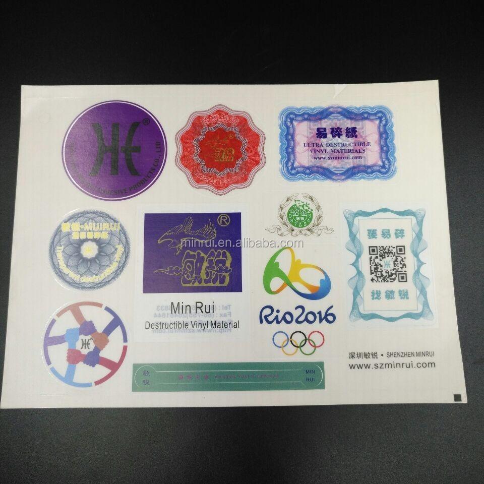 Minrui Manufacturer Self Adhesive Color Transparent A4