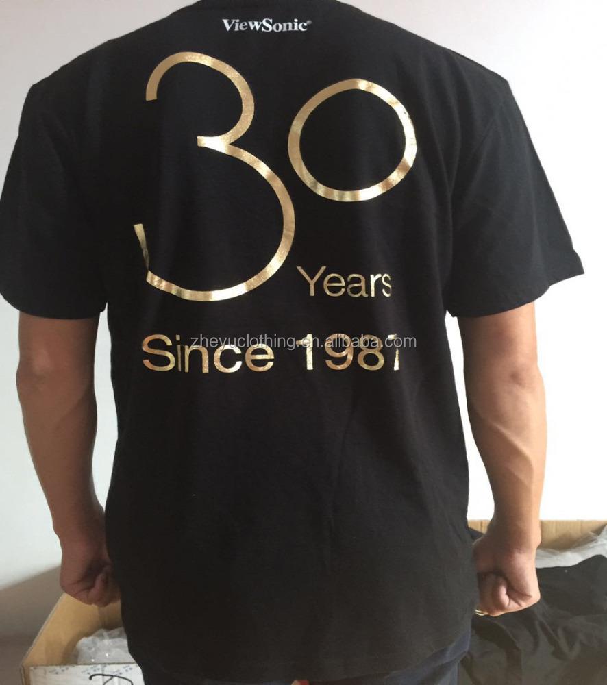 Custom Short Sleeve 180grams 60cotton 40polyester Black T Shirts