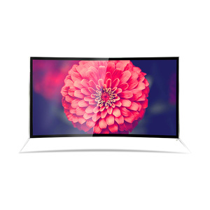 Full color Slim 55 inch LCD/LED tv A Grade Screen Full HD Slim Smart television 4k smart tv Curved Screen tv
