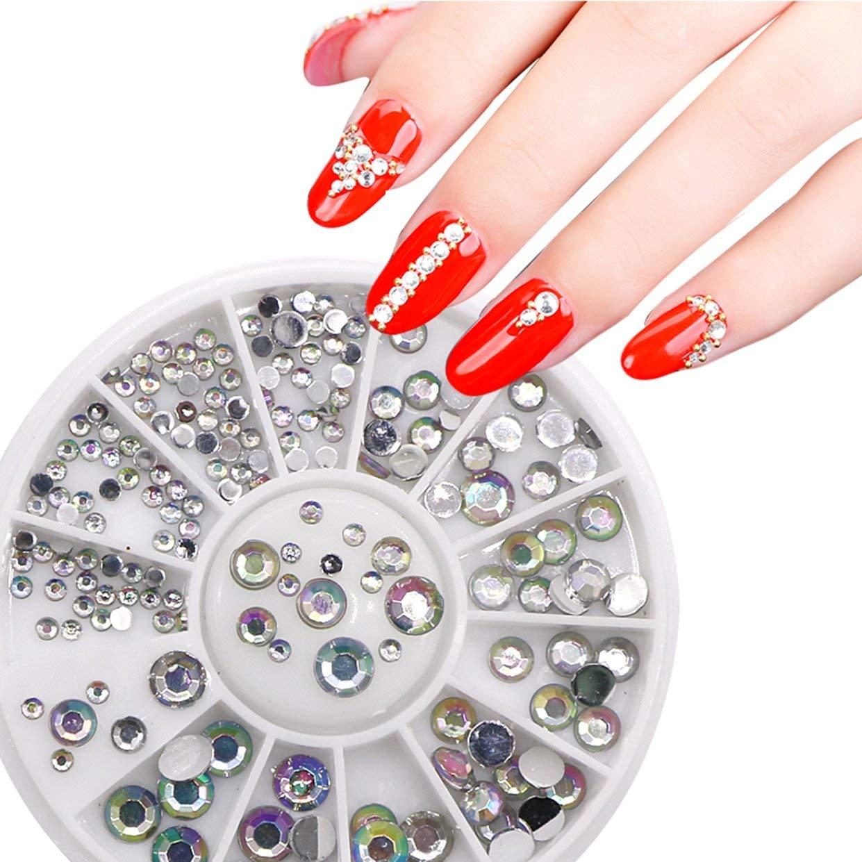 1 Pack 3D Crystal Nail Art Rhinestone Wheel Glitter Decoration DIY Manicure Nails Tool Tips Kits Pleasure Popular Xmas Christmas Winter Snow Holidays Tools Kit