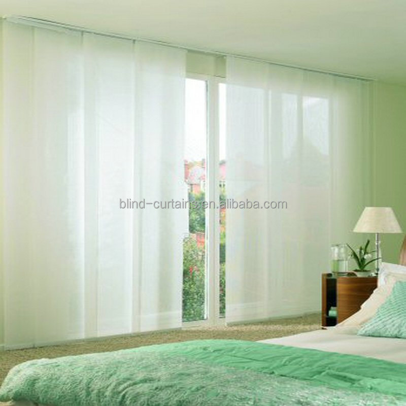wholesale price beautiful fabric panel blind and curtain