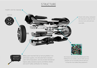 most popular best selling 8 inch self balancing electric scooter with UL2272 and mobile APP, Chic Authorization