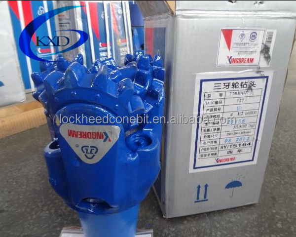 API HJ127 steel tricone drill bit used for water well drilling