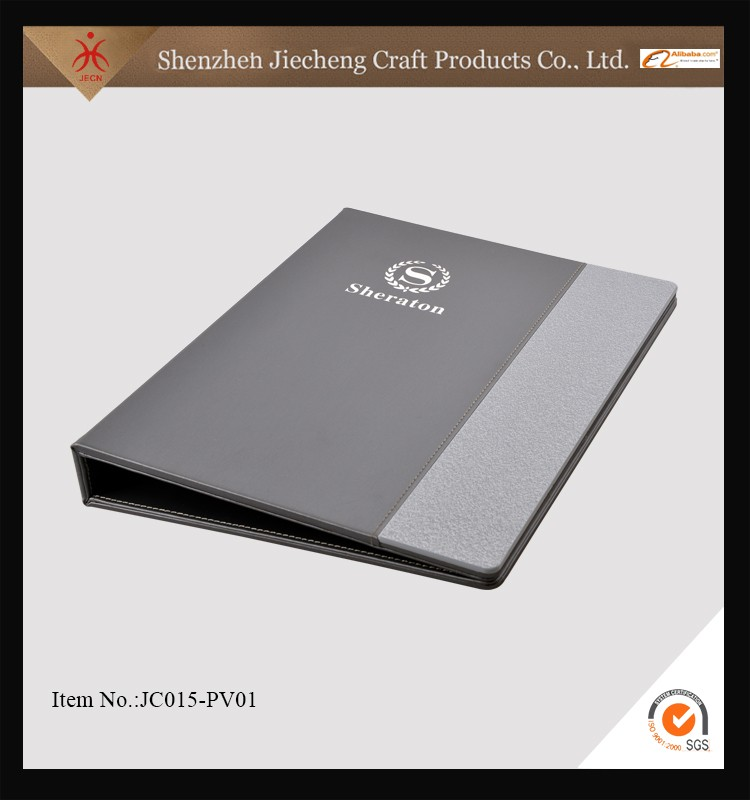 China supplier wholesale leather hotel restaurant menu cover