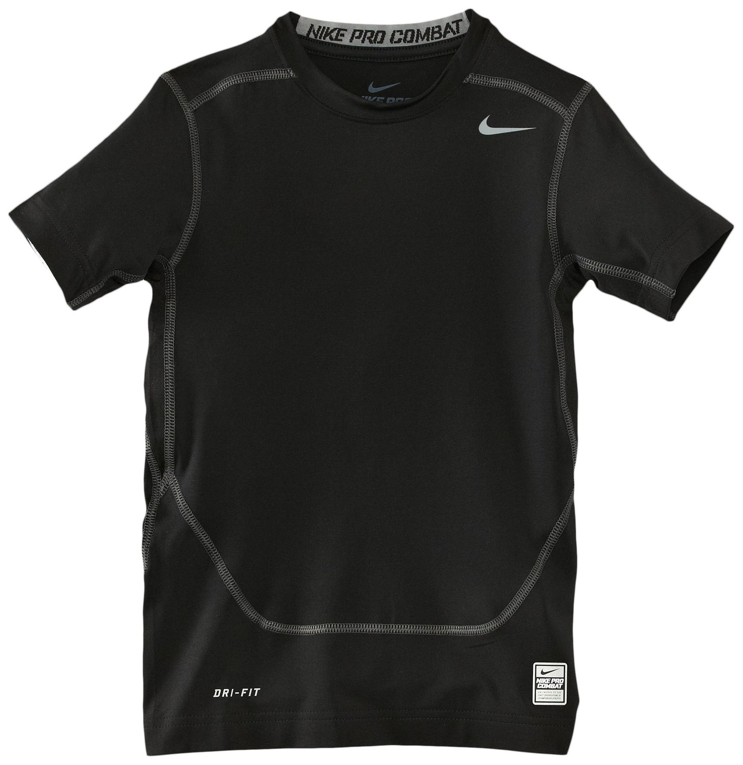 70c48f0fb Get Quotations · Men s Nike Pro Combat Core Fitted 2.0 Short Sleeve Crew  Black