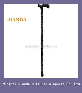JD-2G-008 Aluminum Custom Walking Sticks cane pole crutch folding foldable  fashion luxurious for young men old people