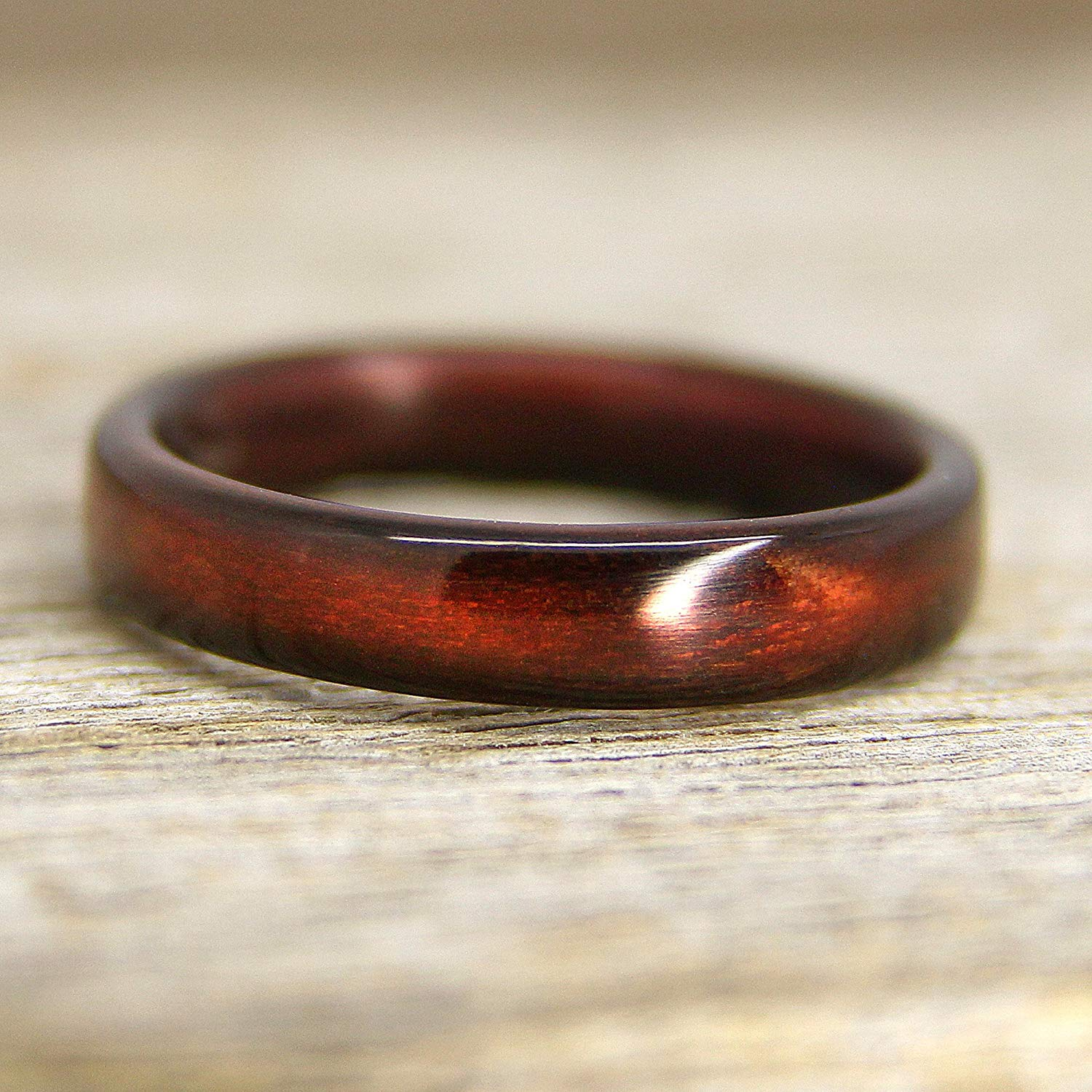 """Shou Sugi Ban """"Torched Cedar"""" Bentwood Ring - Handcrafted Bent Wood Ring - Custom Made - Wedding, Engagement, Etc"""