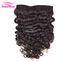 Double weft ombre kinky curly clip in hair extensions,100 human hair extensions clip in,balayage clip in hair extensions