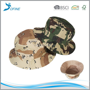 Custom outdoor safari mountaineering Hunt Design Your Own Camo Embroidery mens golf short brim Reversible Bucket Hat