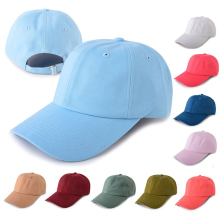 Wholesale Oem 6 Panel Baseball Cap Plain Unstructured Custom Blank Dad Hat