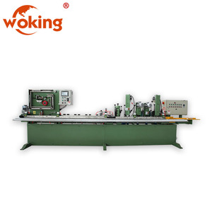 Abrasive belt skiving machine with auto gluing
