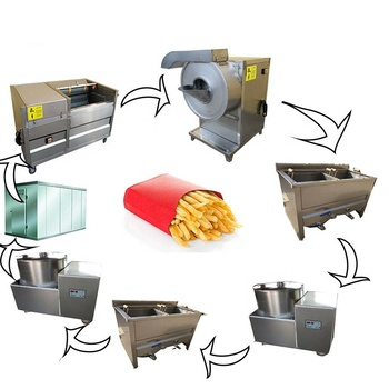 150Kg per hour capacity automatic frozen french fries production line wedge potato machine for sale