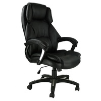 Black leather classic executive arm chair boss office chair