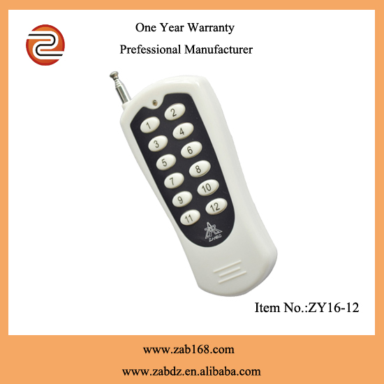 12CH RF Wireless Remote,long distance/range remote control,remote control strong power ZY16-12