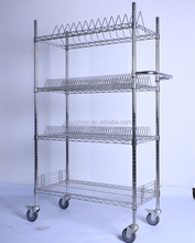 NSF Genehmigt Chromel 4 Tiers Einstellbare SMT Reel Trolley, <span class=keywords><strong>ESD</strong></span> Warenkorb