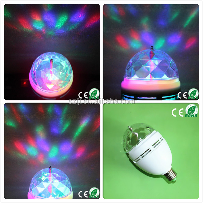 sound-activated 3w lamp Firework Lamp led colorful magic ball bulb led lighting lamp