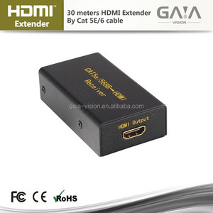 HDMI Extender over 1080p 30m by cat5e x1 powerline 30m hdmi extender