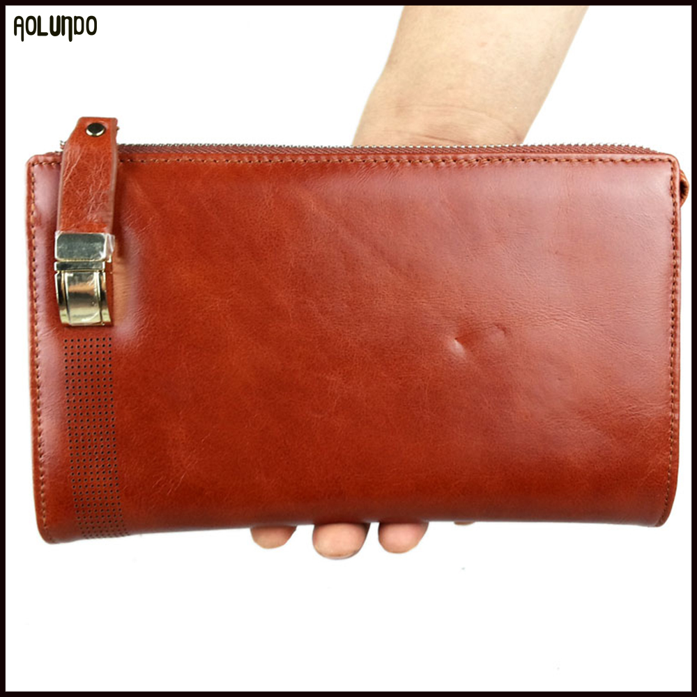 Guangzhou OEM custom fashion genuine leather wallets for men