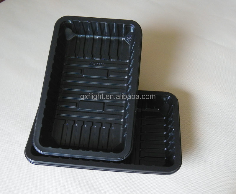 FS retain freshness supermarket molded plastic food trays