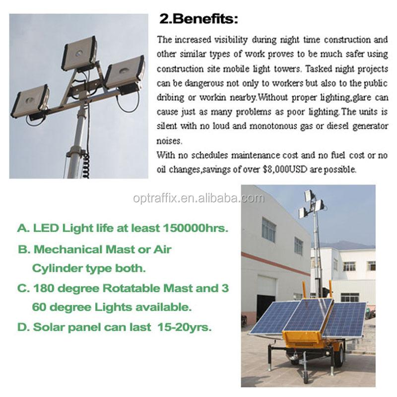 Stadium Lights Solar: Oem Stadium Battery Powered Vehicle Trailer Mounted