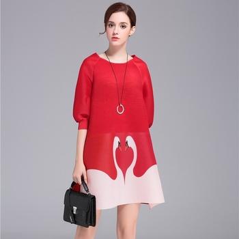 Fashionable Red Porm Dress Women Lovely Cute Summer Dress