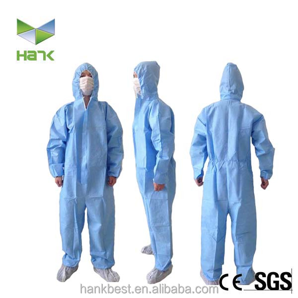 Industrial PP Disposable Protective Body Suits Clothing
