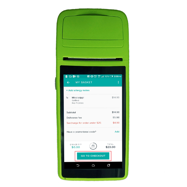 NFC POS Wholesale Price for 4G Android T1 handheld pos with printer All in one POS system for retail transaction