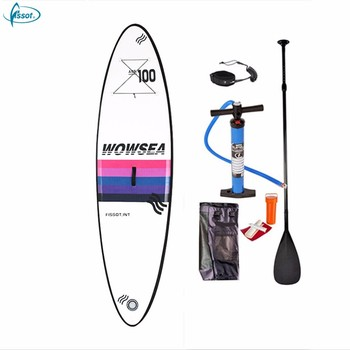 "Fissot 10'*31""*6"" inflatable SUP paddle board with pump, paddle, backpack"