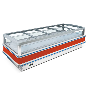 Commercial Island Freezer Open Showcase Supermarket Display Refrigerator