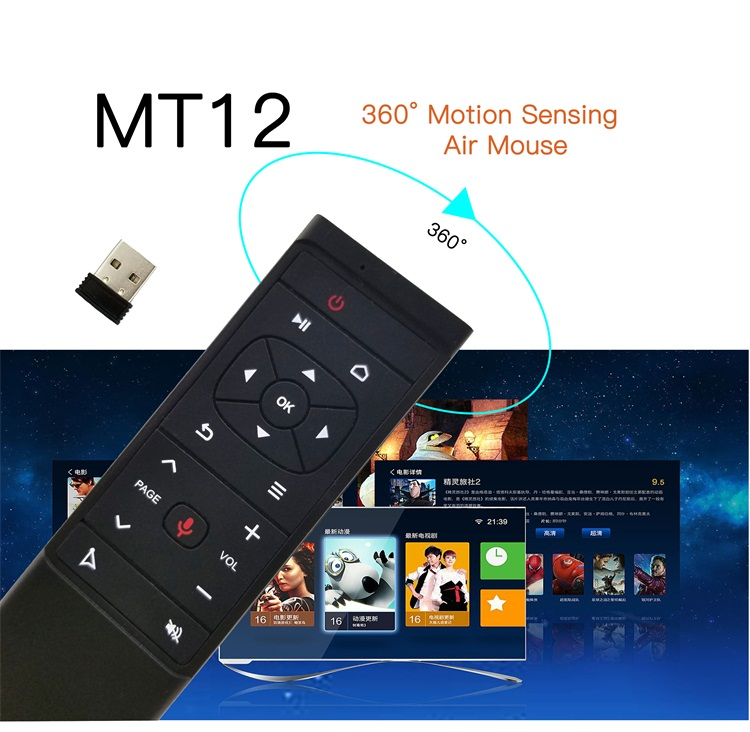 Topleo Unique Band MT12 Voice function 24ghz wireless smart universal android remote control air mouse