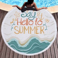 Baoding manufacturing holiday beach printed microfiber round beach towel