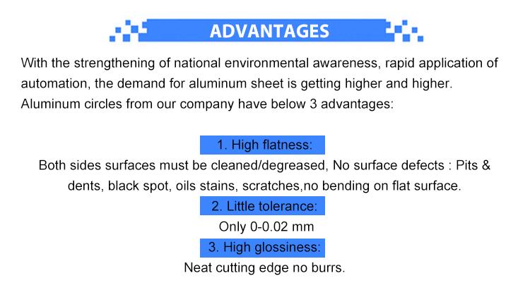 5005 6061 5083 alüminyum yuvarlak tabak levha pişirme kapları ücretsiz örnek ile özelleştirilmiş paketleri