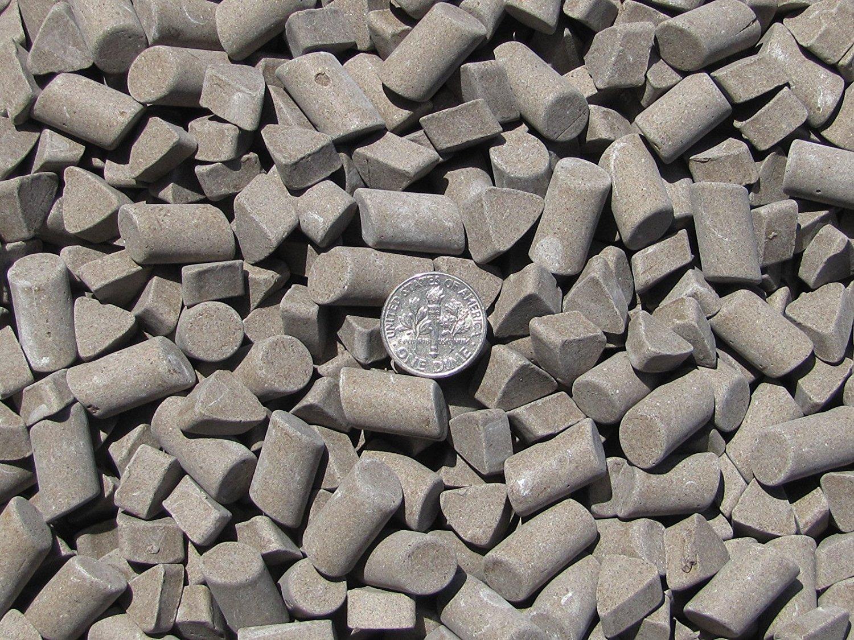 3//16 X 3//8 /& 3//8 X 5//8 Cylinder Non-Abrasive Polish White 3//8 X 1//4 Triangle Lapidary Rock Tumbler Tumble P Ceramic Tumbling Media Mixed 3 Lbs