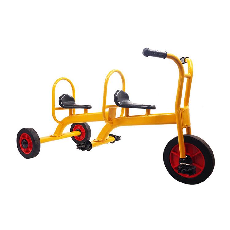 屋外子供ダブルシート 3 ホイールペダル有人三輪車することができます