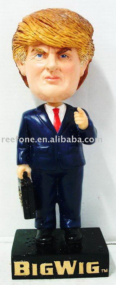 Polyresin Talking Bobblehead bobble head figurine