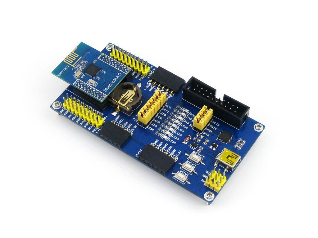 Waveshare BLE4.0 Bluetooth NRF51822 Module 2.4G Wireless Communication Module Transmitter Receiver Development Evaluation Kit for Arduino