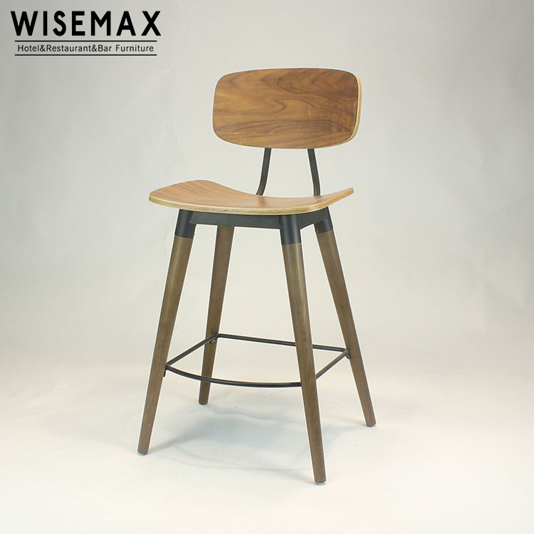 Tremendous Triumph Sean Dix Copine Bar Chairs Wooden Counter Restaurant Metal Bar Stool With Solid Wood Leg Industrial Design Buy Barstool Wooden Plywood Bar Unemploymentrelief Wooden Chair Designs For Living Room Unemploymentrelieforg