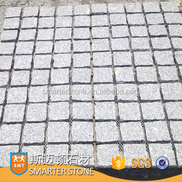 Grey granite paver stone flamed granite paving stone on mesh