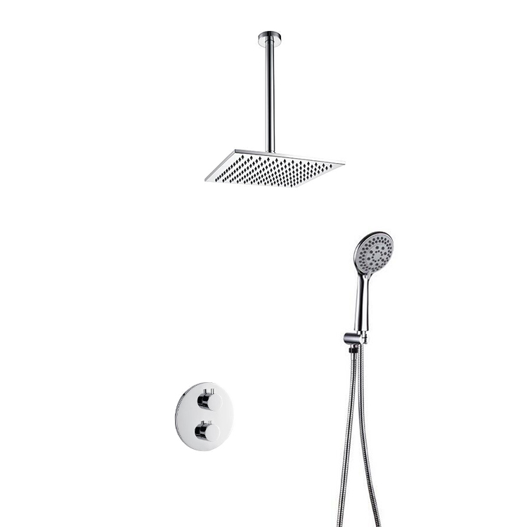 Space Saving Top Ceiling Shower Head With Handheld Head Mixer Shower ...