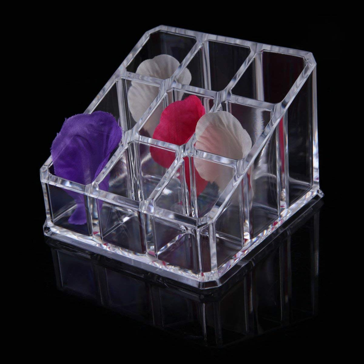 361c03bf935c Get Quotations · Tacoli Lipstick Holder, Stand Cosmetic Makeup Organizer, 9  Grid Makeup Organizer Box Clear Acrylic