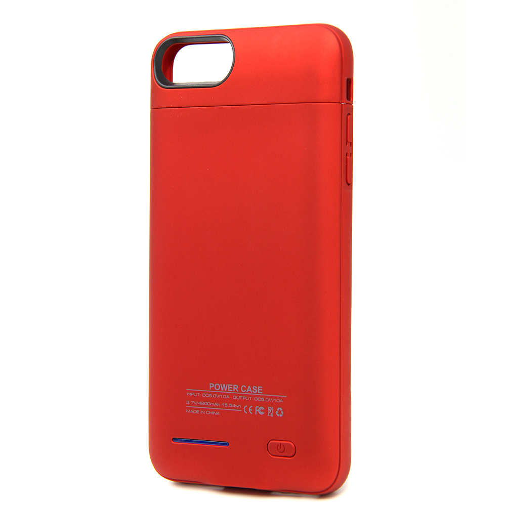 2018 new product red DC 5V/1.5A green nidicator light mirror 4200 classical power bank for iphone6/7