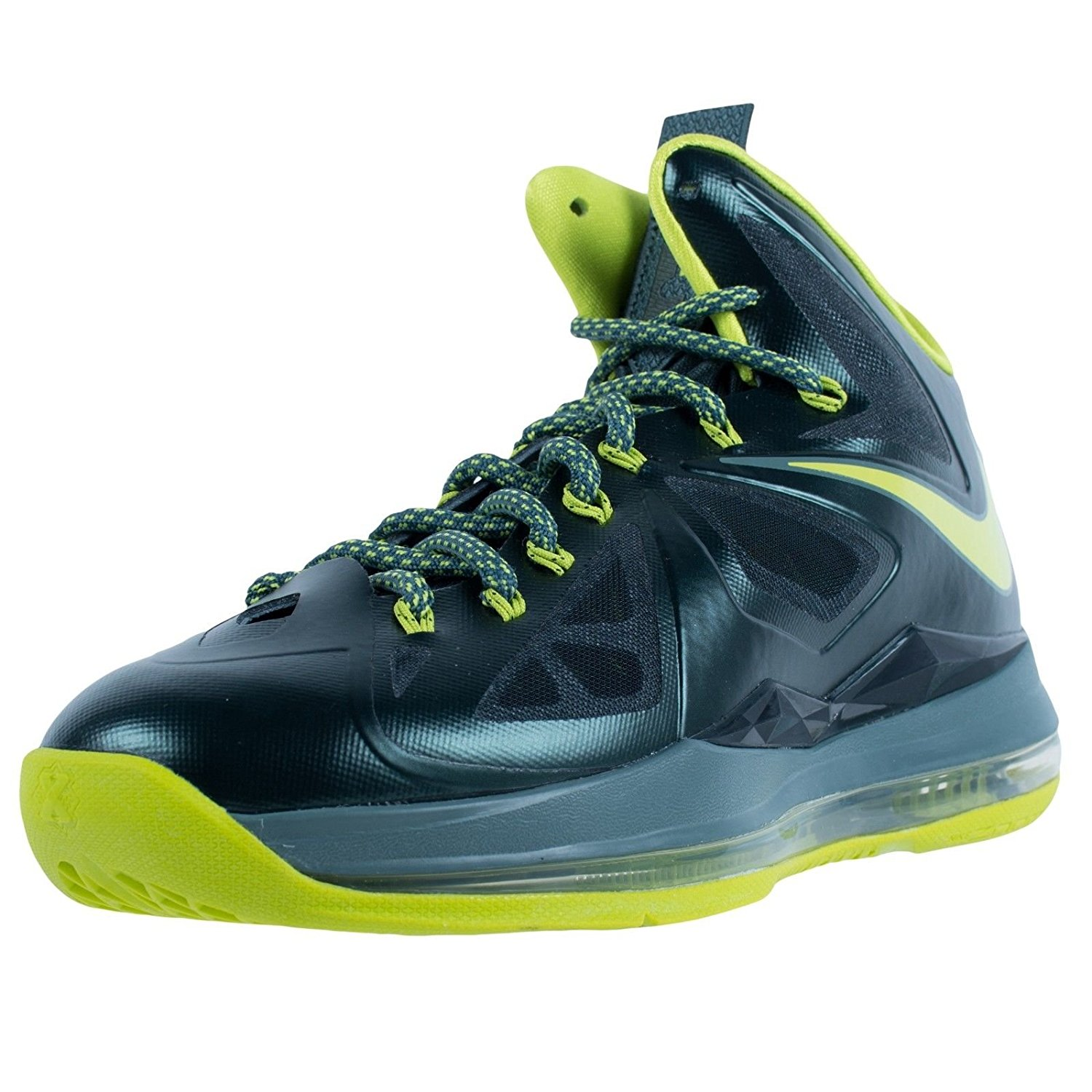 4db1e02798a3 Get Quotations · NIKE LEBRON X BASKETBALL SNEAKERS DUNKMAN SEAWEED ATOMIC  GREEN 541100 300 SZ 7.5