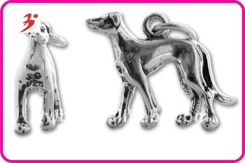 Fashion alloy silver dog shape jewelry pendant(H100142)