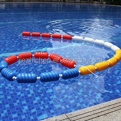 Swimming pool lane rope markers plastic 25m float line with stainless steel hook
