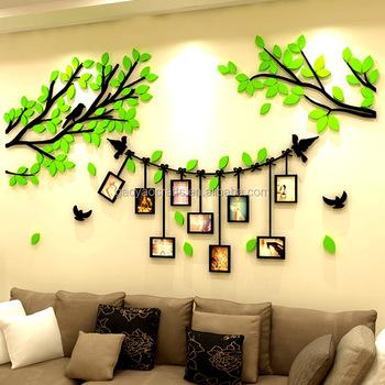 Bingkai Foto Dinding Kreatif Akrilik Stiker Ruang Tamu R Tidur Teras Dekorasi Rumah
