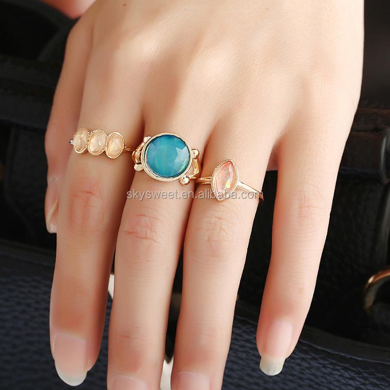 3 Gram Gold Beautiful Big Stone Rings,Gold Ring Set Designs For ...