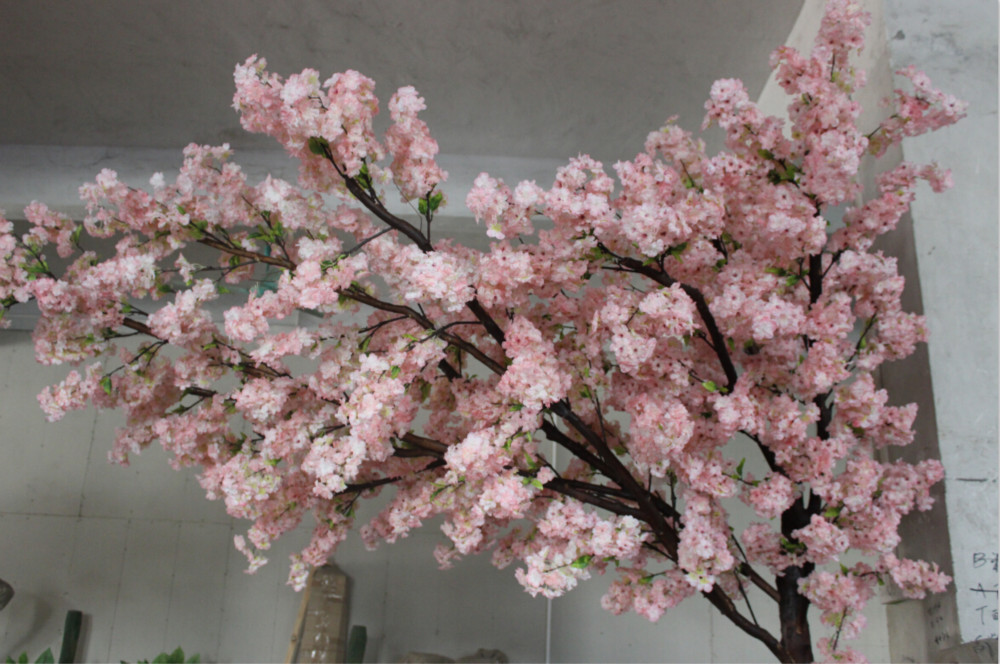 Wholesale 8ft Pink Wedding Arch For Garden Decoration Artificial Cherry Blossom